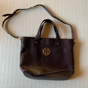 Tory Burch brown leather tote